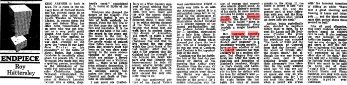 Roy Hattersely writes about Rosemary Sutcliff