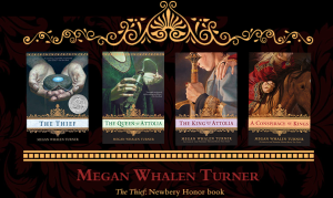 Covers of Books by Megan Wheeler Turner