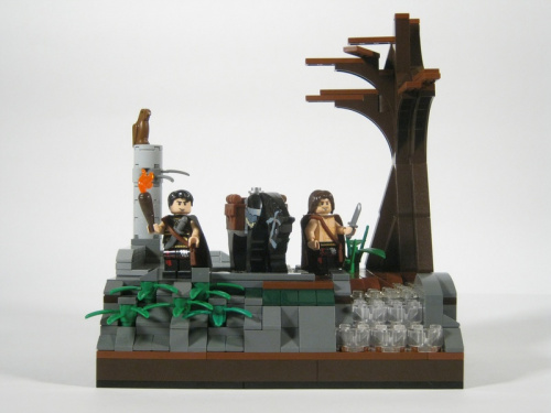 Lego model of The Eagle of the Ninth from Rosemary Sutcliff historical novelist
